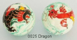 Therapy ball 40mm - Dragon #0025 - 2 ball set