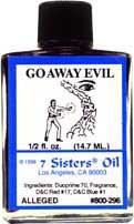 GO AWAY EVIL 7 Sisters Oil